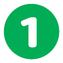 Number 1 Circle - no background