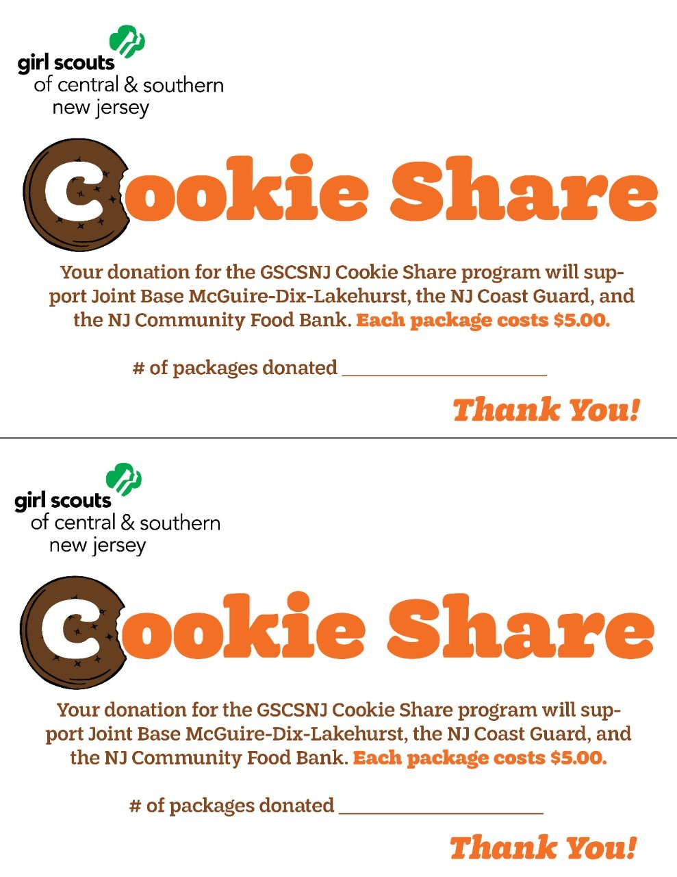 2021 Cookie Share Receipt - Full Color